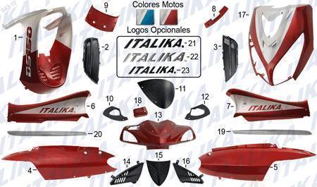 PLASTICOS PARA MOTOS SCOOTER ITALIKA MAVILA RTM LIFAN