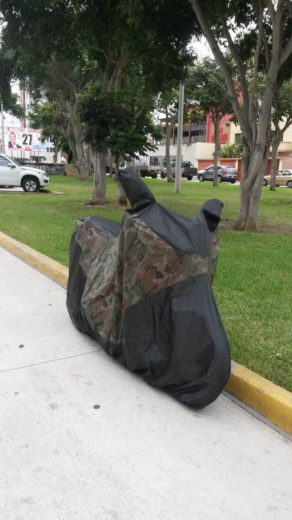 Funda Cobertor Impermeable Camuflado Militar Tapasol De Moto